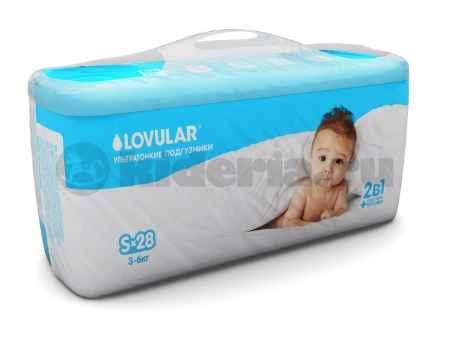 Купить Lovular Подгузники детские S, 3-6 кг