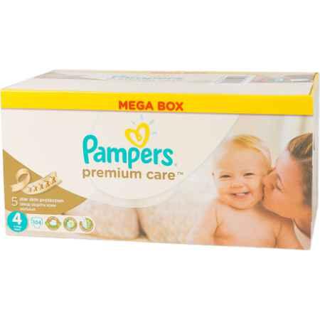 Купить Pampers Подгузники Pampers Premium Care Maxi 7-14 кг (104 шт) Размер 4