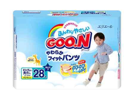 Купить GooN Подгузники-трусики для мальчиков BIG (13-25 кг) 28 шт.