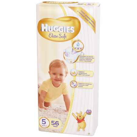 Купить Huggies Подгузники Elite Soft Mega 5 (12-22 кг) 56 шт.