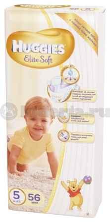Купить Huggies Подгузники Элит Софт 5, 12-22 кг
