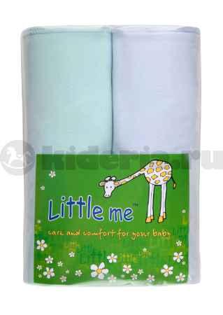 Купить Little me Пеленка тонкая, трикотаж, 90х120 см, 2 шт.