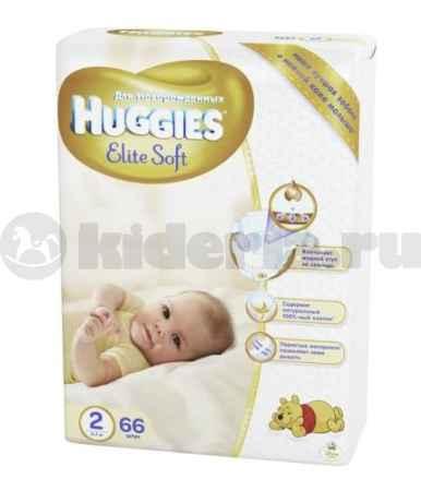 Купить Huggies Подгузники Элит Софт 2, 4-7 кг