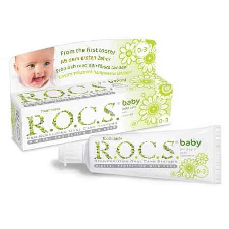 Купить R.O.C.S. Зубная паста R.O.C.S. Baby 45 мл. Душистая ромашка с 0 мес.