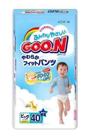 Купить GooN Подгузники-трусики BIG (XL) для мальчиков (12-20 кг) 40(38) шт.