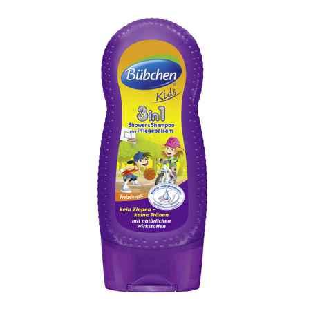 Купить Bubchen Bubchen Kids 3 в 1 - шампунь, бальзам для волос и гель для душа 230 мл