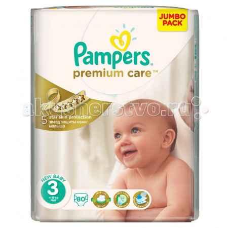 Купить Pampers Подгузники Premium Care Midi р.3 (4-9 кг) 80 шт.
