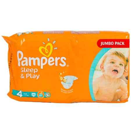 Купить Pampers Подгузники Pampers Sleep&Play Maxi 7-14 кг (86 шт) Размер 4