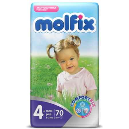 Купить Molfix Подгузники Molfix Maxi Plus 9-20 кг. (70 шт.) Размер 4+