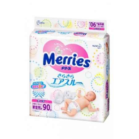 Купить Merries Подгузники NB (0-5 кг) 90 шт.