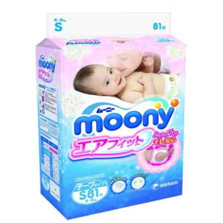 Купить Moony Подгузники S (4-8 кг) 81 шт.
