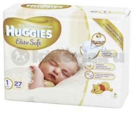 Купить Huggies Подгузники Элит Софт 1, до 5 кг