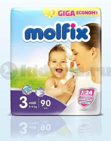 Купить Molfix Подгузники детские Миди 3, 4-9 кг