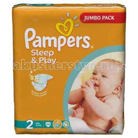 Купить Pampers Подгузники Sleep & Play Mini р.2 (3-6 кг) 88 шт.