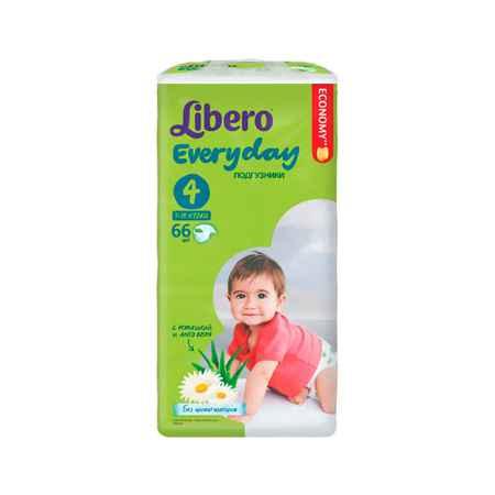 Купить Libero Подгузники Libero Everyday Natural с ромашкой Maxi 7-18 кг (66 шт) Размер Maxi