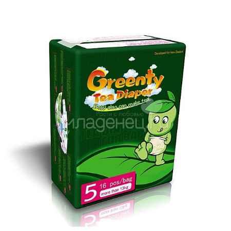 Купить Greenty Подгузники Greenty 13+ кг (16 шт) Размер 5
