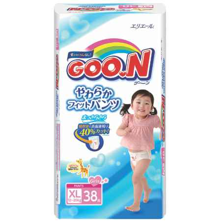 Купить GooN Трусики Goon для девочек 12-20 кг (38 шт) Размер BIG