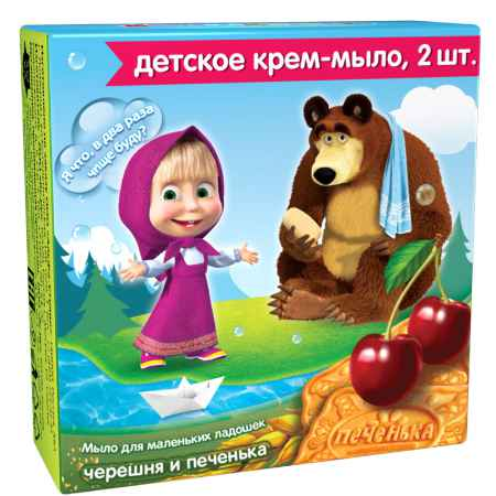 Купить Маша и Медведь Мыло Маша и Медведь Черешня и печенье (с 2-х лет) 84 мл.