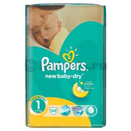 Купить Pampers Подгузники New Baby для новорожденных, 2-5 кг