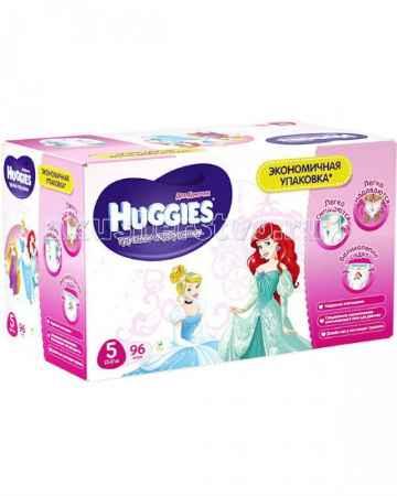 Купить Huggies Подгузники-трусики для девочек 5 (13-17 кг) 96 шт.