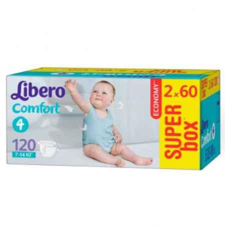 Купить Libero Подгузники Comfort супер-бокс Maxi (7-14 кг) 2х60 шт.
