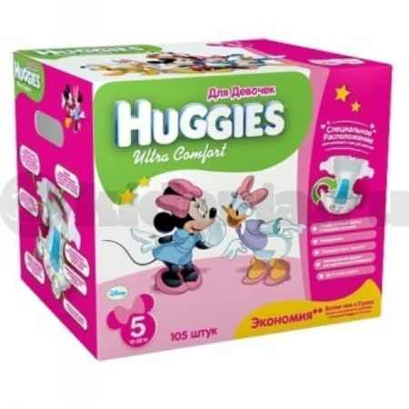 Купить Huggies Подгузники Ultra Comfort 5 для девочек, 12-22 кг