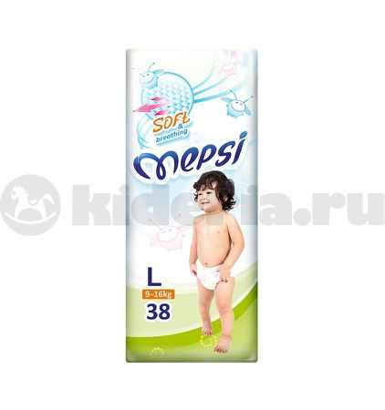 Купить Mepsi Детские подгузники L, 9-16 кг