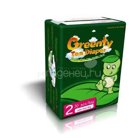 Купить Greenty Подгузники Greenty до 6 кг (30 шт) Размер 2