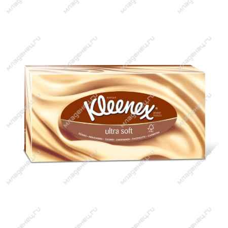 Купить Kleenex Бумажные салфетки Kleenex ULTRA SOFT 3-х слойные 56 шт