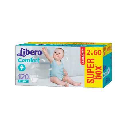 Купить Libero Подгузники Libero Comfort Maxi 7-14 кг (120 шт) Размер 4