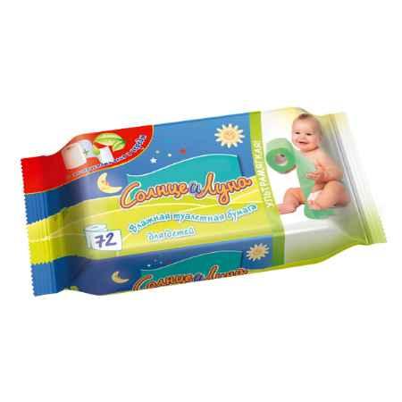 Купить Aura Влажная туалетная бумага Солнце и Луна с экстрактами алоэ и череды 72 шт