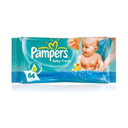 Купить Pampers Салфетки влажные Pampers Baby Fresh Clean с алоэ (запасной блок) 64 шт