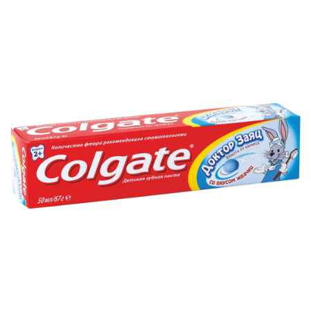 Купить Colgate Зубная паста Colgate Доктор Заяц 50 мл. со вкусом жвачки с 2 лет.