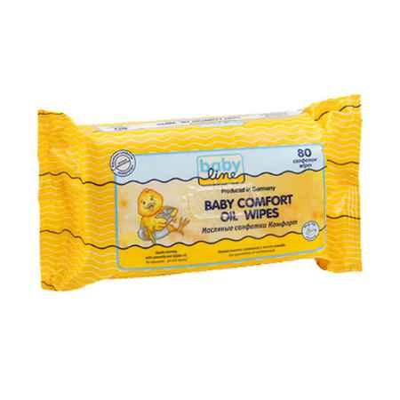 Купить Babyline Салфетки влажные Babyline Comfort масляные 80 шт