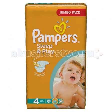 Купить Pampers Подгузники Sleep & Play Ромашка р.4 (7-14 кг) 68 шт.