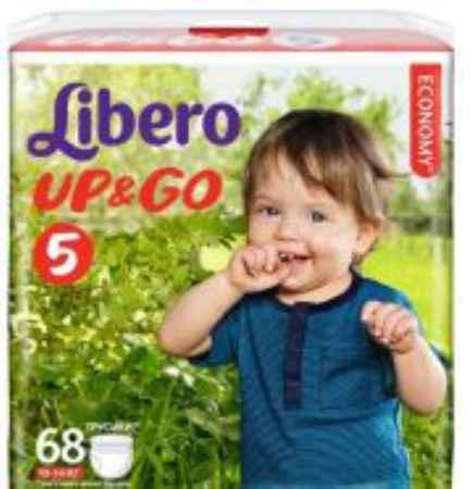Купить Libero Подгузники-трусики Up&Go Giga Pack (10-14 кг) 68 шт.