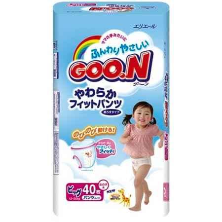 Купить GooN Подгузники-трусики BIG для девочек (12-20 кг) 40 шт.