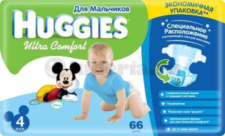 Купить Huggies Подгузники Ultra Comfort для мальчиков 4 (8-14 кг)