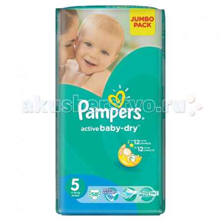 Купить Pampers Подгузники Active Baby Dry Junior р.5 (11-18 кг) 58 шт.