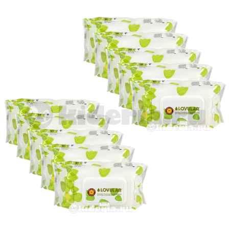 Купить Lovular Набор влажных фито-салфеток 80 шт/уп,10 упаковок