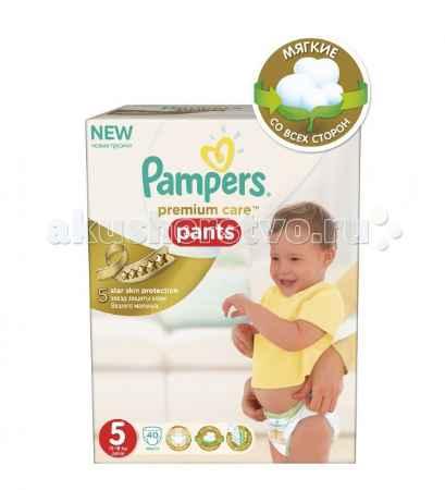 Купить Pampers Подгузники-трусики Premium Care Pants Junior р.5 (12-18 кг) 40 шт.