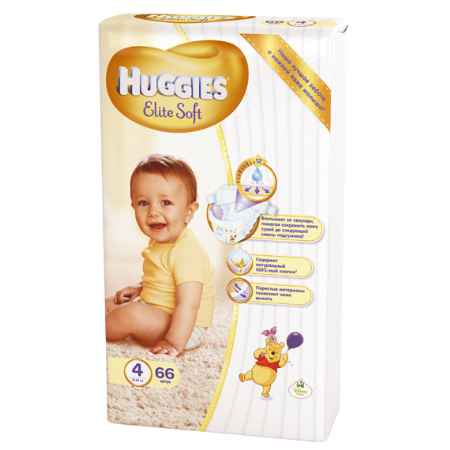 Купить Huggies Подгузники Elite Soft Mega 4 (8-14 кг) 66 шт.