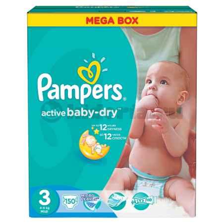 Купить Pampers Подгузники Active Baby Midi, 4-9 кг