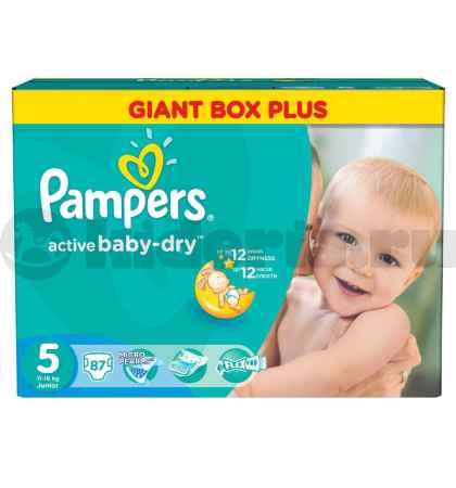 Купить Pampers Подгузники Active Baby Junior 11-18 кг