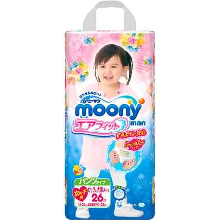 Купить Moony Подгузники-трусики для девочек Big Big (13-25 кг) 26 шт