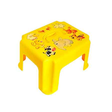 Купить М Пластика Табурет-подставка М Пластика с ручкой цвет - Желтый