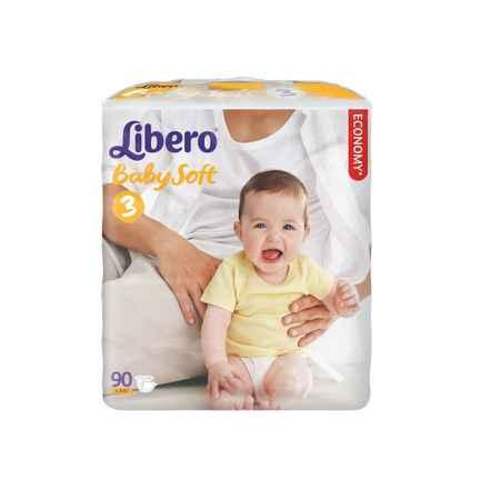 Купить Libero Подгузники Libero Comfort Midi 4-9 кг (90 шт) Размер 3