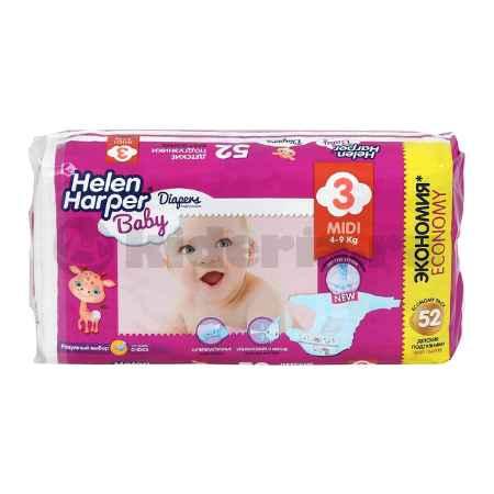 Купить Helen Harper Детские подгузники Baby Midi 4-9 кг, 52 шт