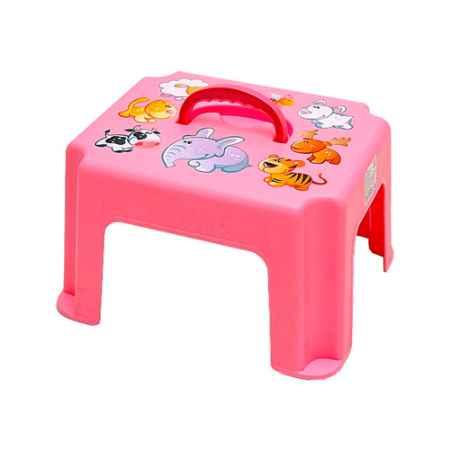 Купить М Пластика Табурет-подставка М Пластика с ручкой цвет - Розовый