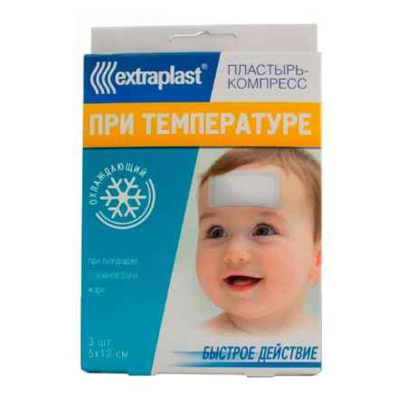 Купить Extraplast Пластырь Extraplast При температуре 5 х 12 см 3 шт